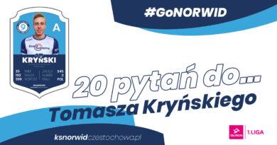 """Z cyklu """" Dwadzieścia pytań do…"""" Tomasz Kryński, atakujący Exact Systems Norwid Częstochowa."""