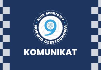 Najnowszy raport medyczny drużyny Exact Systems Norwid Częstochowa.